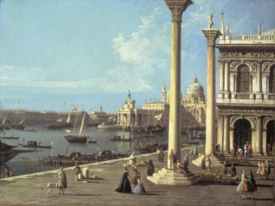 The Bacino Di San Marco and the Church of Santa Maria Della Salute, Venice, from the Piazzetta