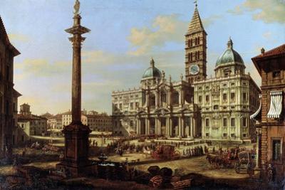 The Piazza and Church of Santa Maria Maggiore in Rome, 1739