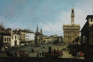 The Piazza Della Signoria in Florence, 1742 by Bernardo Bellotto