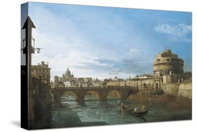 Tiber River and Castel Sant'Angelo, Rome, Circa 1742
