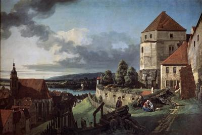 View of Pirna from the Sonnenstein Fortress, C1752-C1755
