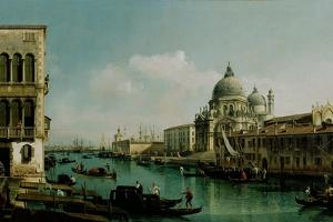 View of the Grand Canal and the Punta Della Dogana, Ca 1743 by Bernardo Bellotto
