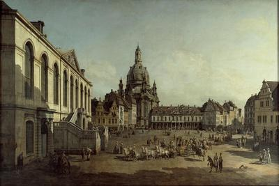 View of the Neumarkt in Dresden from the Jüdenhofe, 1749