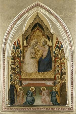 The Coronation of the Virgin with Angels and Saints, C.1340-5