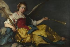 A Personification of Fame, C. 1635 by Bernardo Strozzi