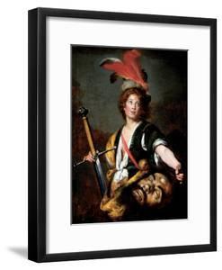 David with the Head of Goliath, C.1636 by Bernardo Strozzi
