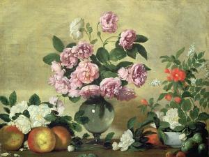 Flowers and Fruit by Bernardo Strozzi