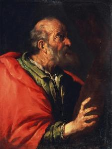 Head of an Old Man' (The Apostle Peter), 17th Century by Bernardo Strozzi