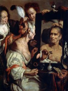 Old Coquette (Vanita), after 1630 by Bernardo Strozzi