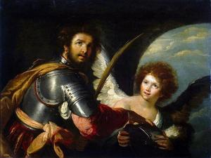Saint Secundus and Angel, C1640 by Bernardo Strozzi
