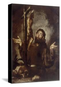 St. Francis, Conserved at the Galleria Estense in Modena by Bernardo Strozzi