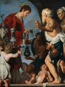 The Charity of St Lawrence by Bernardo Strozzi