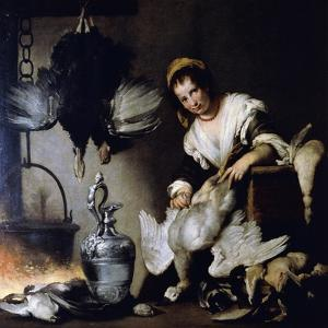 The Cook, Ca 1625 by Bernardo Strozzi