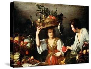 The Fruit Seller by Bernardo Strozzi