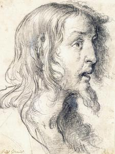 The Head of Christ in Profile to the Right by Bernardo Strozzi
