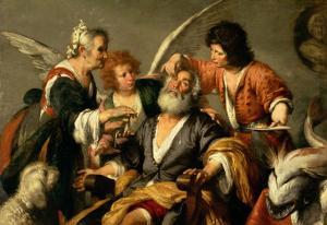 The Healing of Tobit, Early 1630S by Bernardo Strozzi
