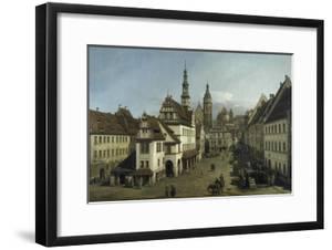 The Market Place, Pirna, 1753-54 by Bernardo Strozzi