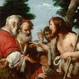 The Head of Christ in Profile to the Right-Bernardo Strozzi-Giclee Print