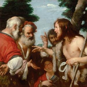 The Sermon of Saint John the Baptist, C. 1644 by Bernardo Strozzi