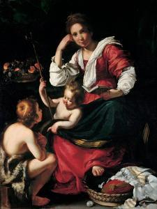 Virgin and Child with John the Baptist as a Boy, C. 1620 by Bernardo Strozzi