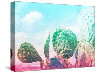 Photograph of Some Green Nopal Cactuses and Color Gradient