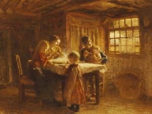 The Family Meal by Bernardus Johannes Blommers