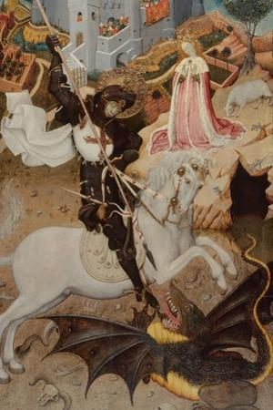 Saint George Killing the Dragon, 1434-1435 by Bernat Martorell the Elder