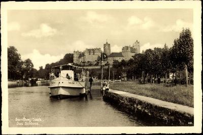 Bernburg Saale, Dampfer Sachsen Anhalt Mit Schloss--Giclee Print
