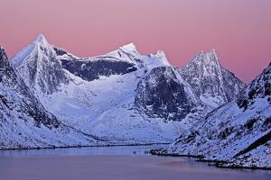 Norway, Lofoten, Moskenesoya, Kirkefjord, Pure Mountains by Bernd Rommelt