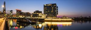 DŸsseldorf, North Rhine-Westphalia, Panorama of the Media Harbour with Hyatt Hotel by Bernd Wittelsbach
