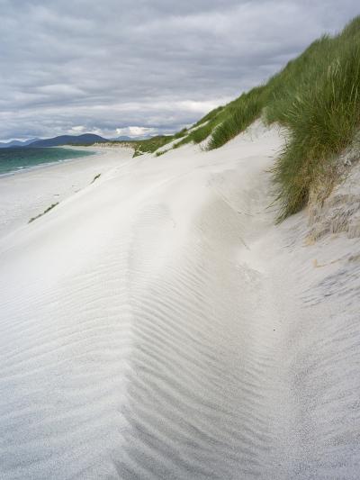 Berneray Is, Bearnaraidh, West Beach with the Mts of Harris . Scotland-Martin Zwick-Photographic Print