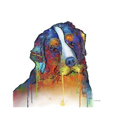 Bernese Mountain Dog-Marlene Watson-Giclee Print