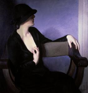 Woman in Black by Bernhard Gutmann