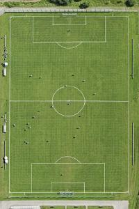 Soccer Filed, Aerial View by Bernhard Lang