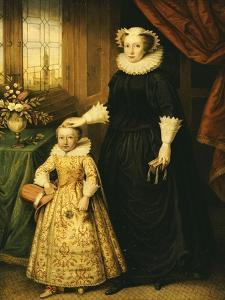 Mary, Queen of Scots (1542 - 1587), and Her Son James I (1566 - 1625) by Bernhard Lens