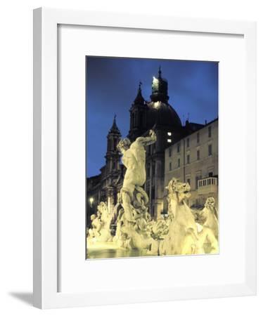 Bernini's Fontana Del Moro, C.1650, on the Piazza Navona-Richard Nowitz-Framed Photographic Print