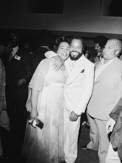 Berry Gordy and Coretta King-Isaac Sutton-Photographic Print