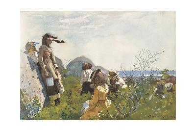 Berry Pickers, 1873-Winslow Homer-Giclee Print
