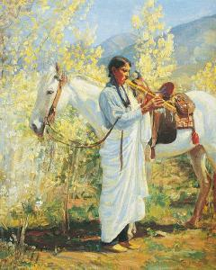 The Flute Player by Bert Phillips