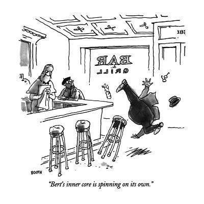 """""""Bert's inner core in spinning on its own."""" - New Yorker Cartoon-George Booth-Premium Giclee Print"""