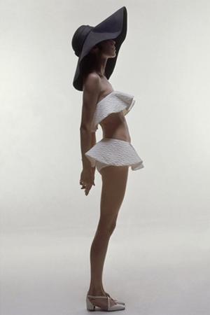 Vogue - June 1969 - Model Wearing Givenchy Swimwear