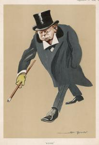 Winston Churchill British Statsman and Author by Bert Thomas