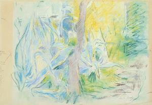 Aloes at Villa Ratti, 1889 (Pastel on Paper) by Berthe Morisot