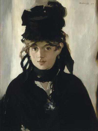 Berthe Morisot au bouquet de violettes-Edouard Manet-Giclee Print