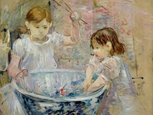 Children at the Basin, 1886 by Berthe Morisot