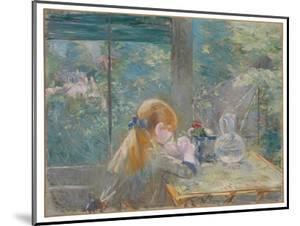 Dans la véranda, 1884 by Berthe Morisot by Berthe Morisot