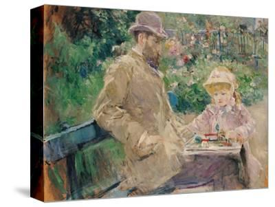 Eugene Manet (1833-92) with His Daughter at Bougival, c.1881