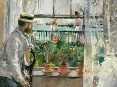 Eugene Manet (1834-92) on the Isle of Wight by Berthe Morisot