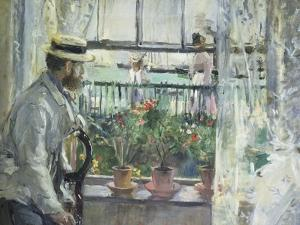 Eugene Manet on the Isle of Wight, 1875 by Berthe Morisot