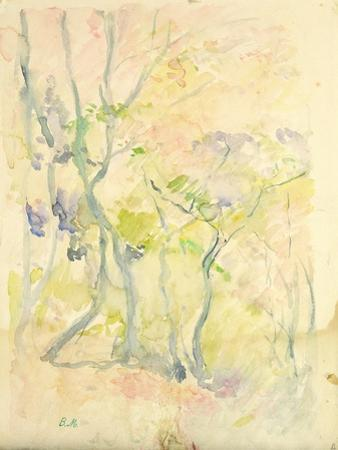 Forest in Fontainebleau, 1893 (W/C on Paper) by Berthe Morisot